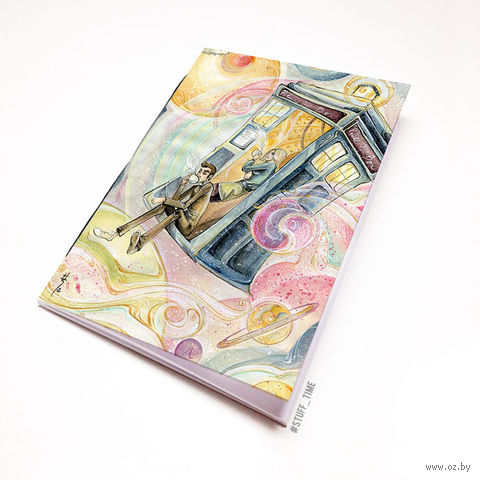 "Блокнот белый ""Доктор Кто"" А5 (арт. 872)"