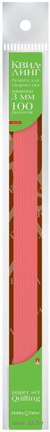 Бумага для квиллинга (300х3 мм; красная; 100 шт.) — фото, картинка