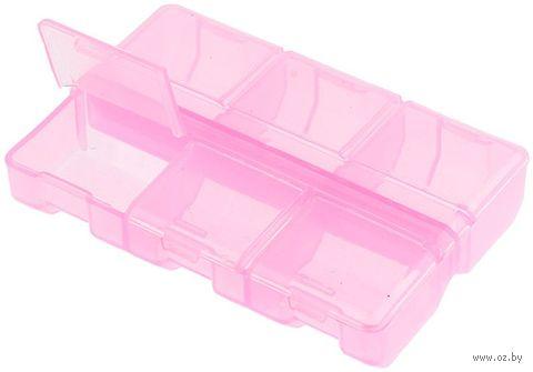 Органайзер для рукоделия (розовый; 6 отделений) — фото, картинка