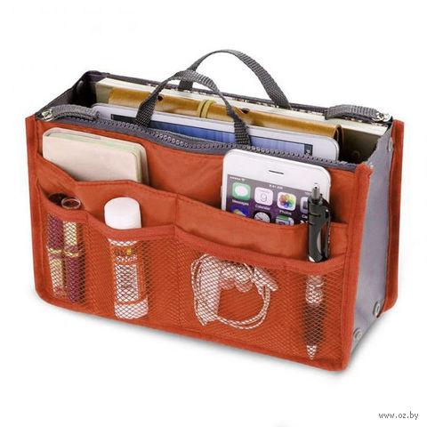 """Органайзер """"Сумка в сумке"""" (оранжевый) — фото, картинка"""