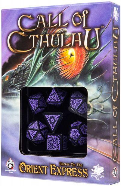 "Набор кубиков ""Call of Cthulhu"" (7 шт.; черно-фиолетовый) — фото, картинка"