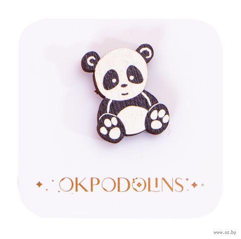 "Значок-пин ""Панда мелкая"" (арт. 73) — фото, картинка"