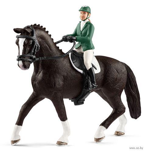 """Набор фигурок """"Наездница с чёрной лошадью"""" — фото, картинка"""