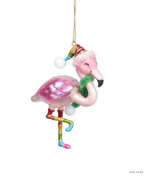 """Ёлочная игрушка """"Фламинго"""" — фото, картинка"""