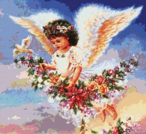 """Вышивка крестом """"Ангел с голубем"""" (330х360 мм) — фото, картинка"""