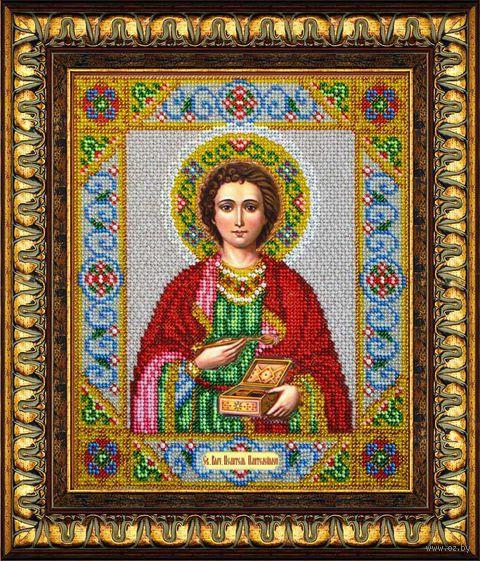 """Вышивка бисером """"Святой Целитель Пантелеймон"""" (200х245 мм) — фото, картинка"""