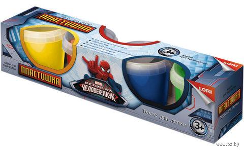 "Тесто для лепки ""Человек-паук"" (4 цвета) — фото, картинка"
