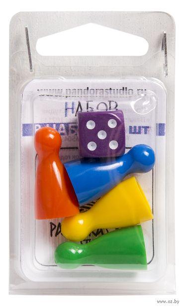 Набор фишек для настольных игр (24 мм; + кубик) — фото, картинка