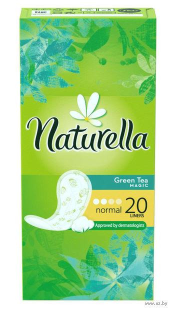 Ежедневные прокладки NATURELLA Green Tea Magic Normal (20 шт.) — фото, картинка