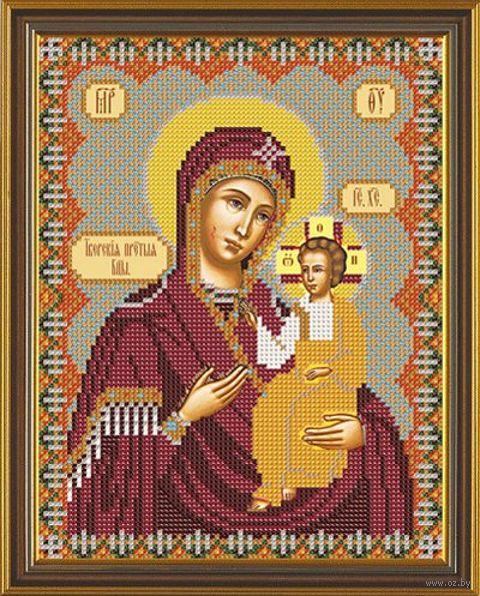 """Вышивка бисером """"Богородица Иверская"""" (180х230 мм) — фото, картинка"""