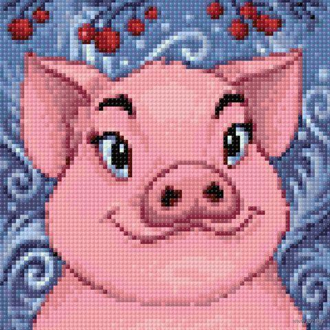 "Алмазная вышивка-мозаика ""Свинка"" (200х200 мм) — фото, картинка"