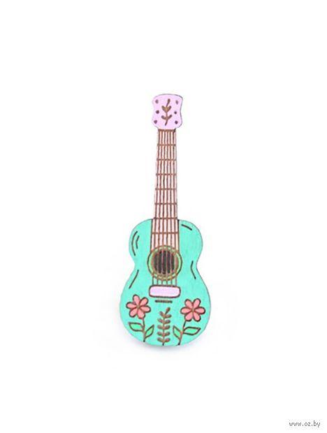 "Значок ""Цветочная гитара"" — фото, картинка"