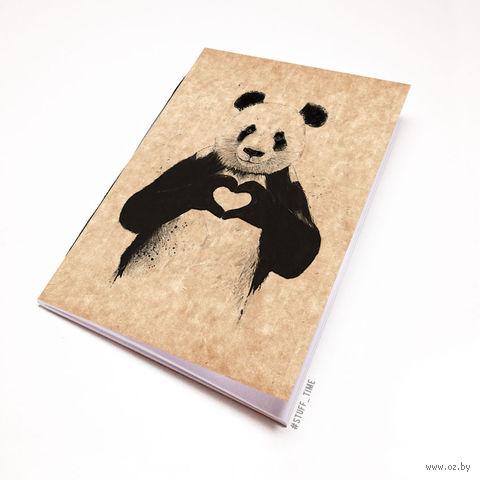 """Блокнот крафт """"Панда"""" А6 (512)"""