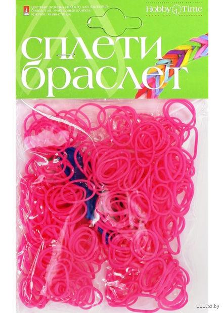 """Набор для плетения из резиночек """"Неоновый розовый"""" (300 шт.) — фото, картинка"""