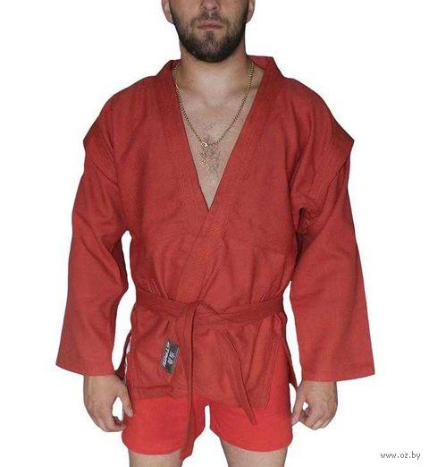 Куртка для самбо AX5 (р. 42; красная; без подкладки) — фото, картинка