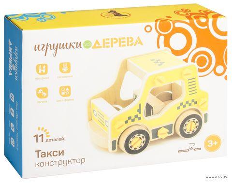"""Конструктор деревянный """"Такси"""" (11 деталей) — фото, картинка"""