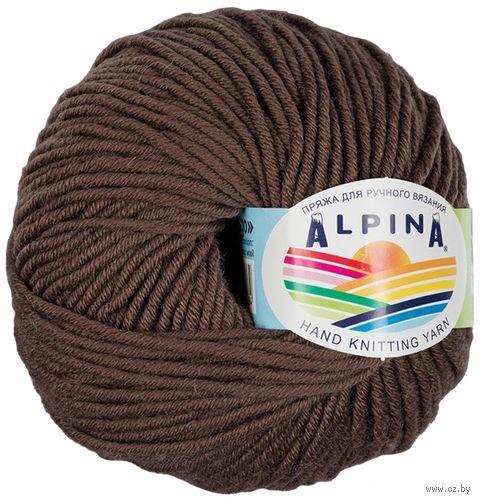 """Пряжа """"ALPINA. Margo №03"""" (50 г; 75 м; темно-коричневый) — фото, картинка"""