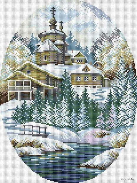 "Алмазная вышивка-мозаика ""Зимняя сказка"""