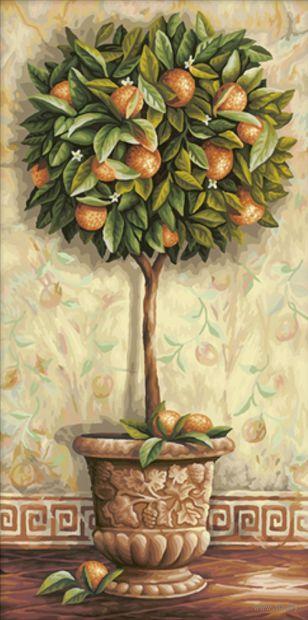 """Картина по номерам """"Апельсиновое дерево"""" (400x800 мм; арт. MY003)"""