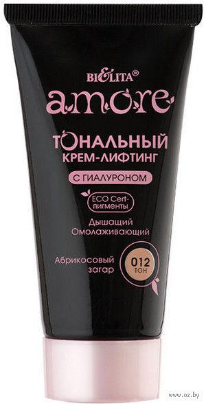 """Тональный крем-лифтинг для лица """"С гиалуроном"""" (тон: 012, абрикосовый загар) — фото, картинка"""