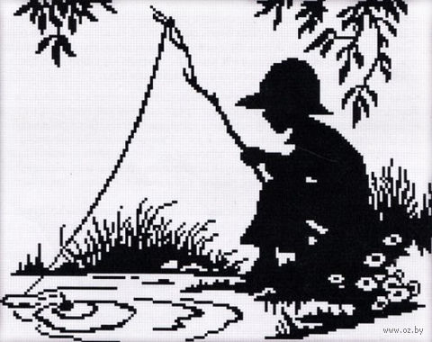 """Вышивка крестом """"Рыбачок"""""""