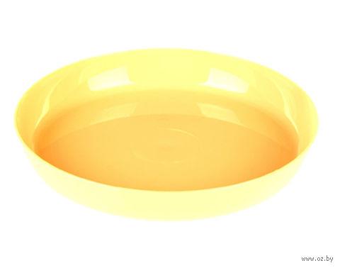 """Подставка для цветочного горшка """"Ага"""" (15,5 см; желтая) — фото, картинка"""