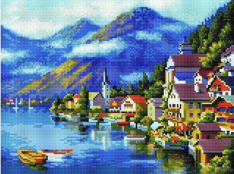"Алмазная вышивка-мозаика ""Австрия. Хальштадт"" (300х400 мм) — фото, картинка"