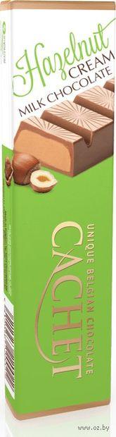 """Шоколад молочный """"Cachet. С начинкой из крема из лесного ореха"""" (75 г) — фото, картинка"""