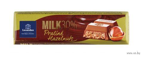 """Шоколад молочный """"Leonidas. Фундучное пралине"""" (50 г) — фото, картинка"""