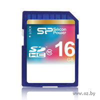 Карта памяти SDHC 16Gb Silicon Power Class 10