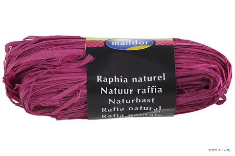 "Подарочная лента ""Natural Raffia"" (моток; цвет: ярко-розовый)"