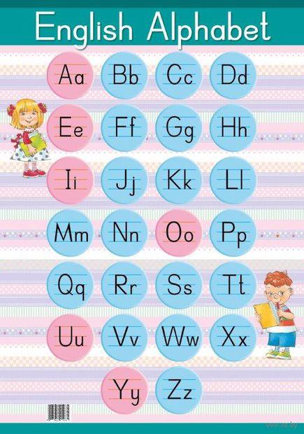 English Alphabet. Образцы письменных букв (настенный плакат) — фото, картинка
