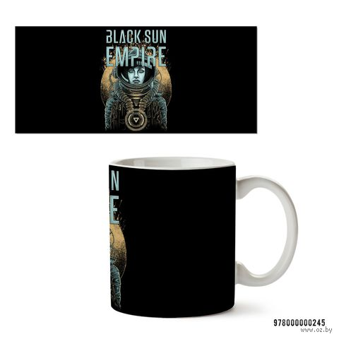 "Кружка ""Black sun empire"" (белая) — фото, картинка"
