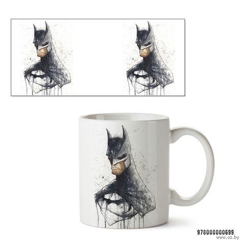 """Кружка """"Бэтмен из вселенной DC"""" (белая; арт. 699) — фото, картинка"""