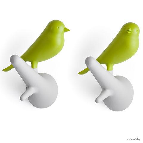 """Вешалки настенные """"Sparrow"""" (белые/зеленые, 2 шт.)"""