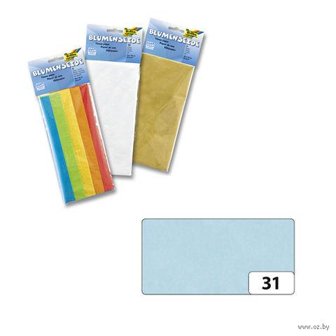 Бумага папиросная (светло-голубой; 500х700 мм; 5 листов)