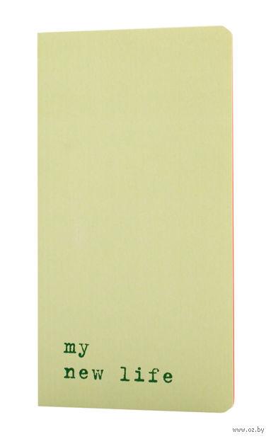 "Записная книжка Молескин ""Chapter. My New Life"" в линейку (95х180 мм; светло-зеленая)"