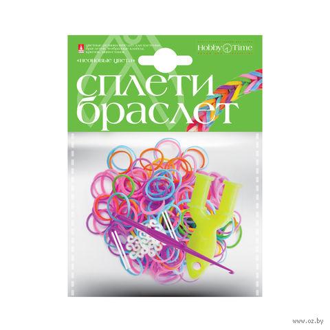 """Набор для плетения из резиночек """"Неоновые цвета"""" (600 шт.) — фото, картинка"""