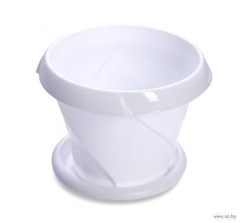 """Цветочный горшок """"Флориана"""" (13,5 см; белый) — фото, картинка"""