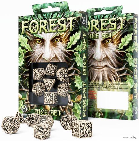 """Набор кубиков """"Forest"""" (7 шт.; бежево-черный) — фото, картинка"""