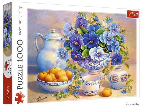 """Пазл """"Натюрморт с абрикосами"""" (1000 элементов) — фото, картинка"""