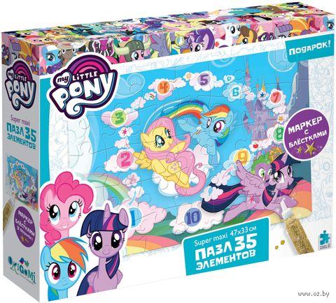 "Пазл super maxi ""My Little Pony. Облачный замок"" (35 элементов) — фото, картинка"