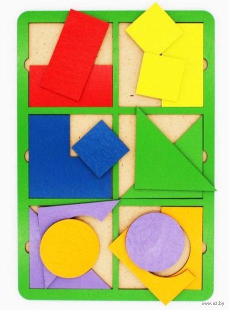 "Рамка-вкладыш ""Собери квадрат"" (6 фигур; уровень 1) — фото, картинка"