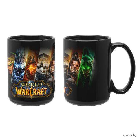 """Кружка """"World of Warcraft"""" (чёрная; арт. 3337) — фото, картинка"""