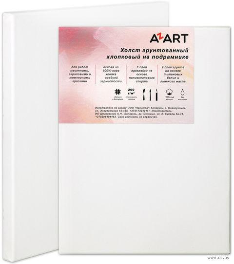 """Холст """"AZART"""" грунтованный хлопчатобумажный на подрамнике (40х50 см)"""
