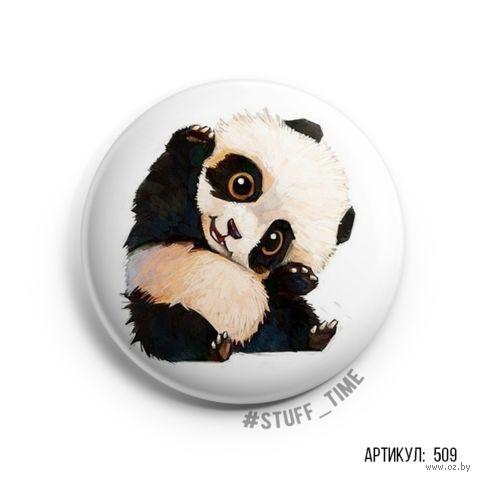 "Значок маленький ""Милая панда"" (арт. 509) — фото, картинка"