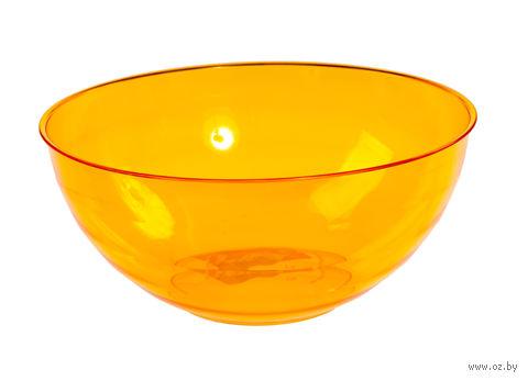 """Салатник """"Florencia"""" (1,8 л; оранжевый полупрозрачный) — фото, картинка"""