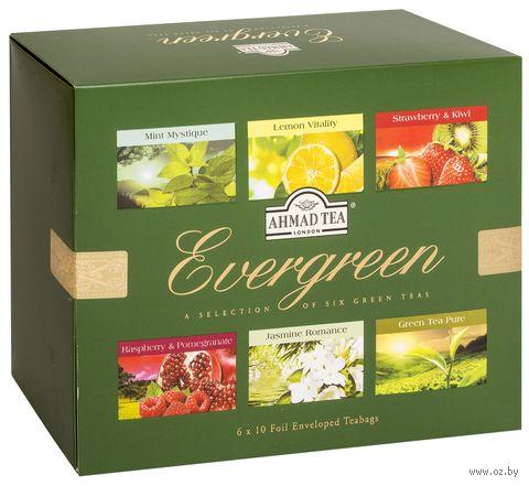 """Чай зеленый """"Ahmad Tea. Evergreen. Ассорти"""" (60 пакетиков) — фото, картинка"""