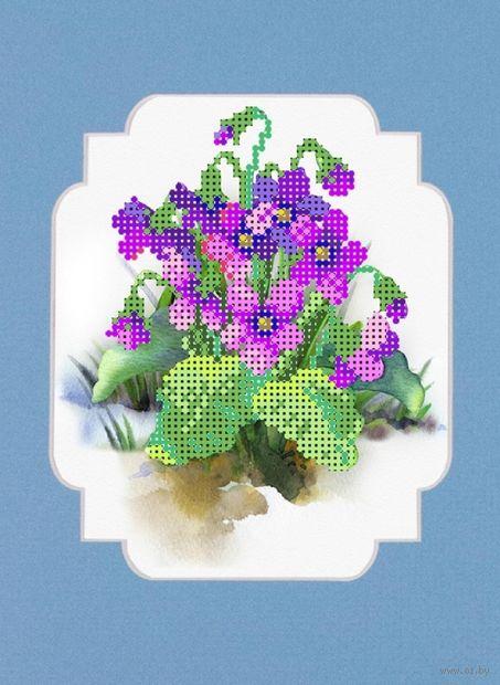"""Вышивка бисером """"Весенние цветы"""" (120х150 мм) — фото, картинка"""