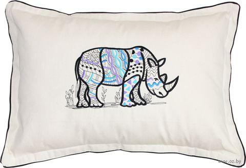 "Подушка ""Носорог"" (54x39 см; арт. 01-546) — фото, картинка"